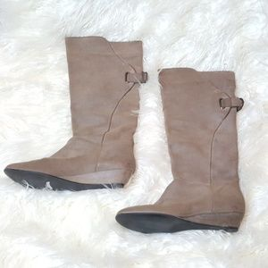 Steve Madden Leather Wedge Boots Size 10